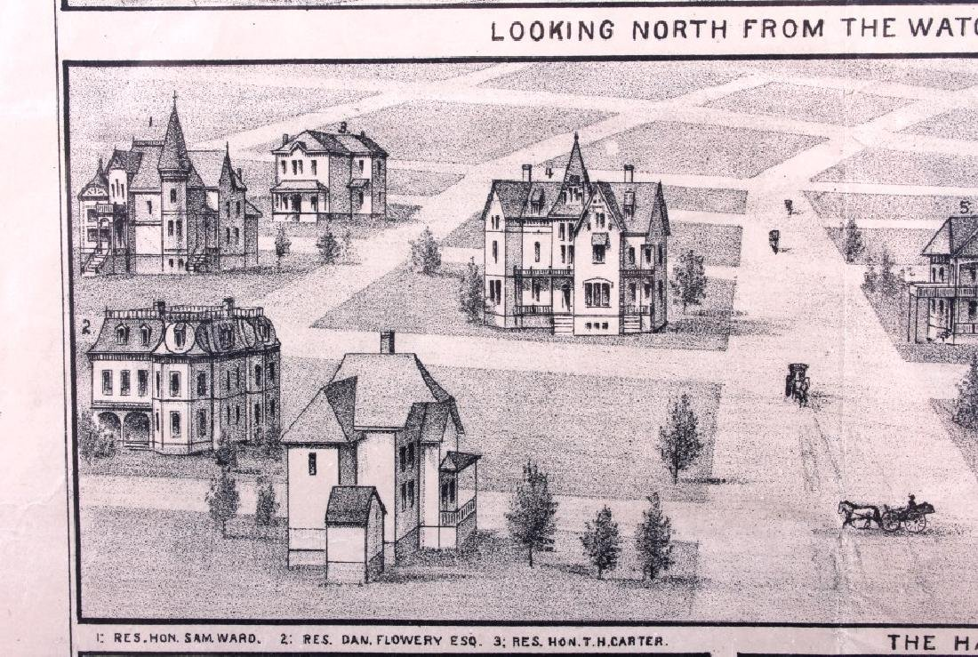 c.1890 Helena Montana Lithograph - 9