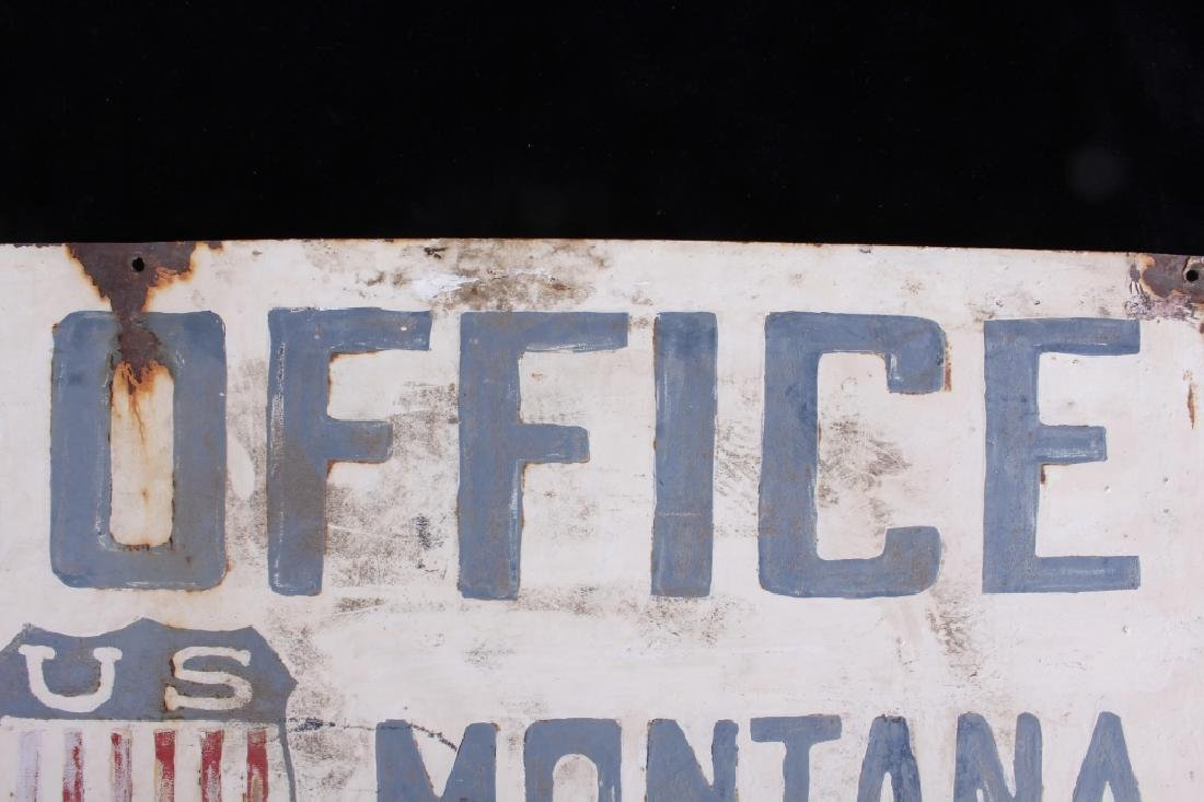 Hand Painted Coalridge Montana Post Office Sign - 10