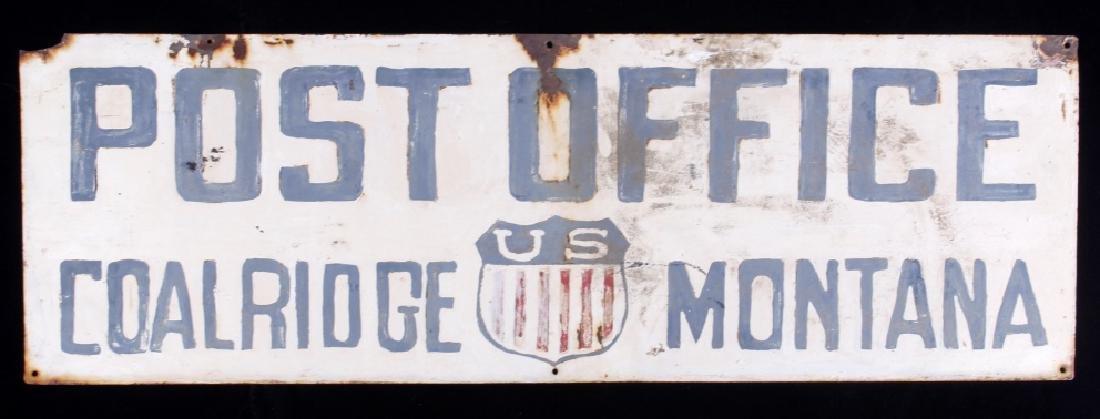Hand Painted Coalridge Montana Post Office Sign