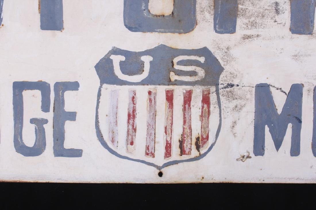 Hand Painted Coalridge Montana Post Office Sign - 3