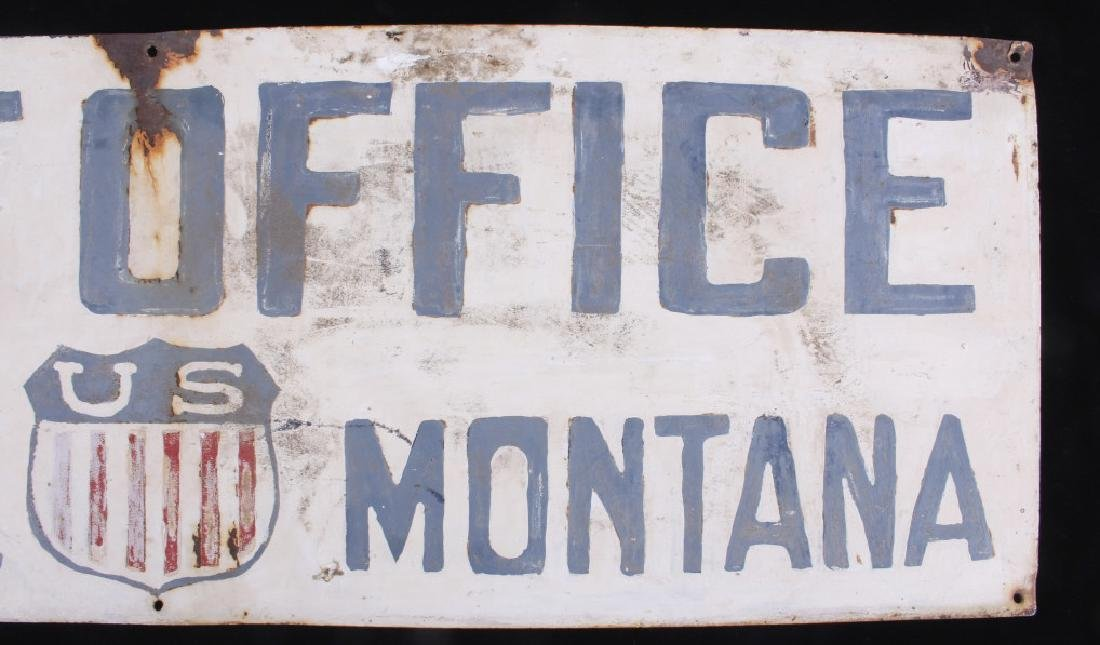 Hand Painted Coalridge Montana Post Office Sign - 9