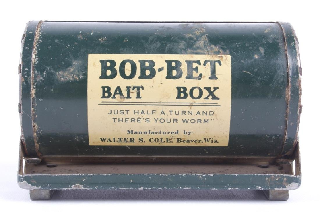 Antique Wooden Loaded Tackle Box - 10
