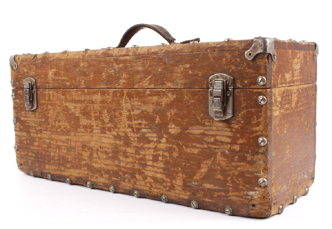 Antique Wooden Loaded Tackle Box - 4
