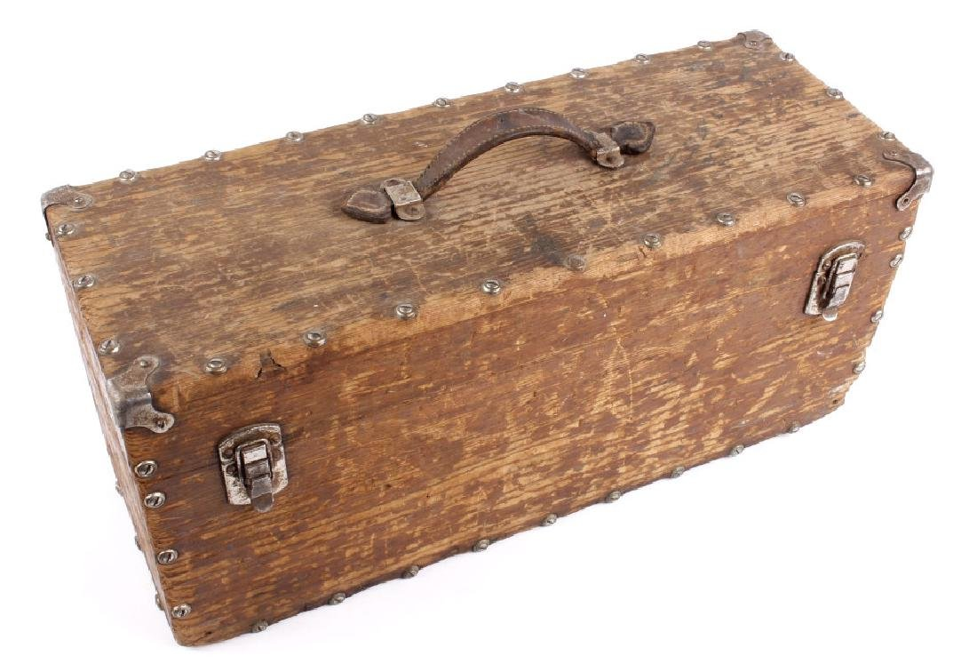 Antique Wooden Loaded Tackle Box - 5