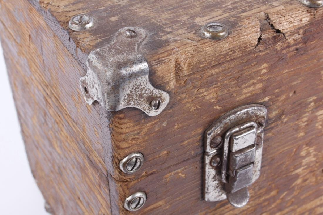 Antique Wooden Loaded Tackle Box - 7
