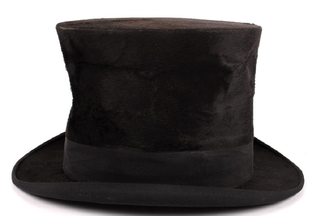 Antique Beaver German Top Hat In Original Box - 12