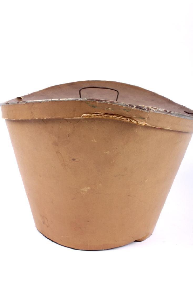 Antique Beaver German Top Hat In Original Box - 18