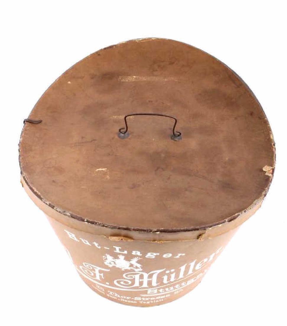Antique Beaver German Top Hat In Original Box - 19