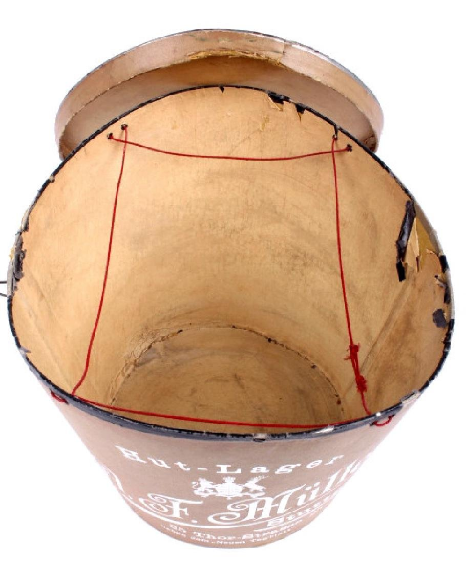 Antique Beaver German Top Hat In Original Box - 20