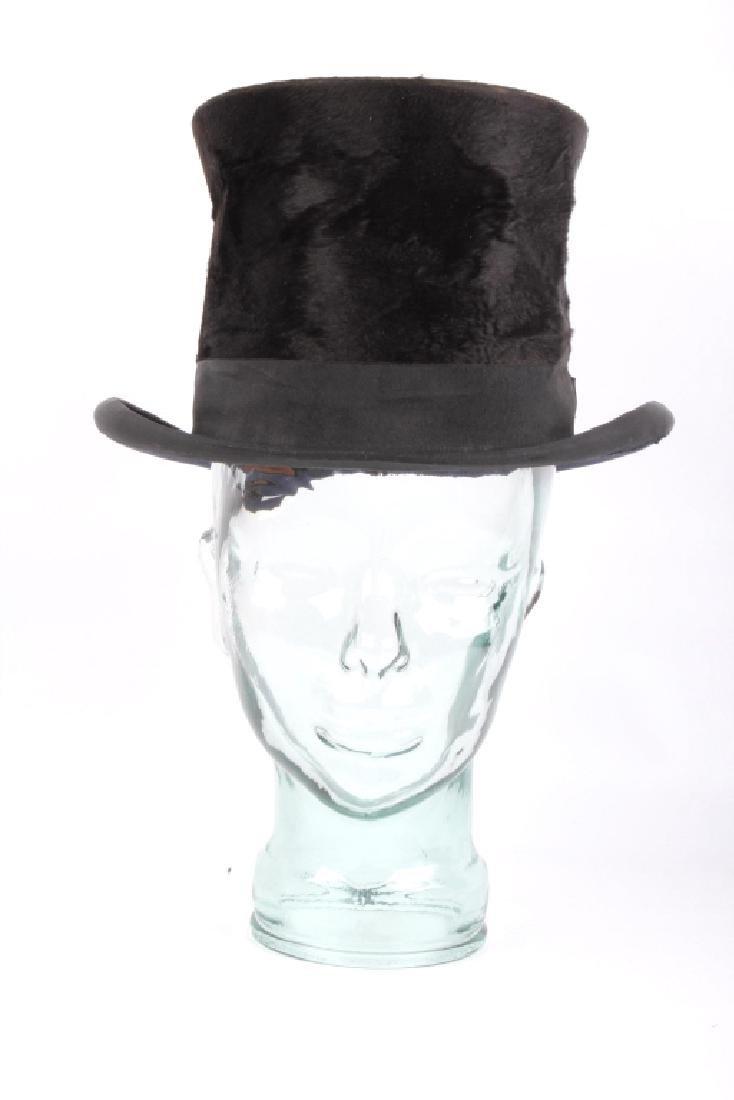 Antique Beaver German Top Hat In Original Box - 2