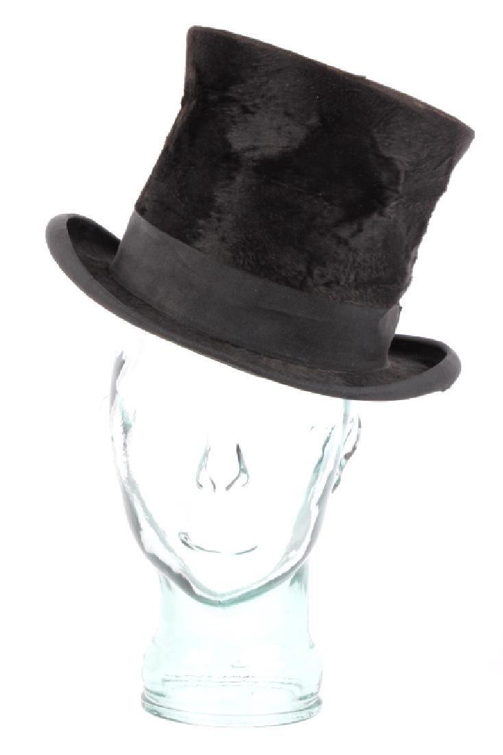 Antique Beaver German Top Hat In Original Box - 3