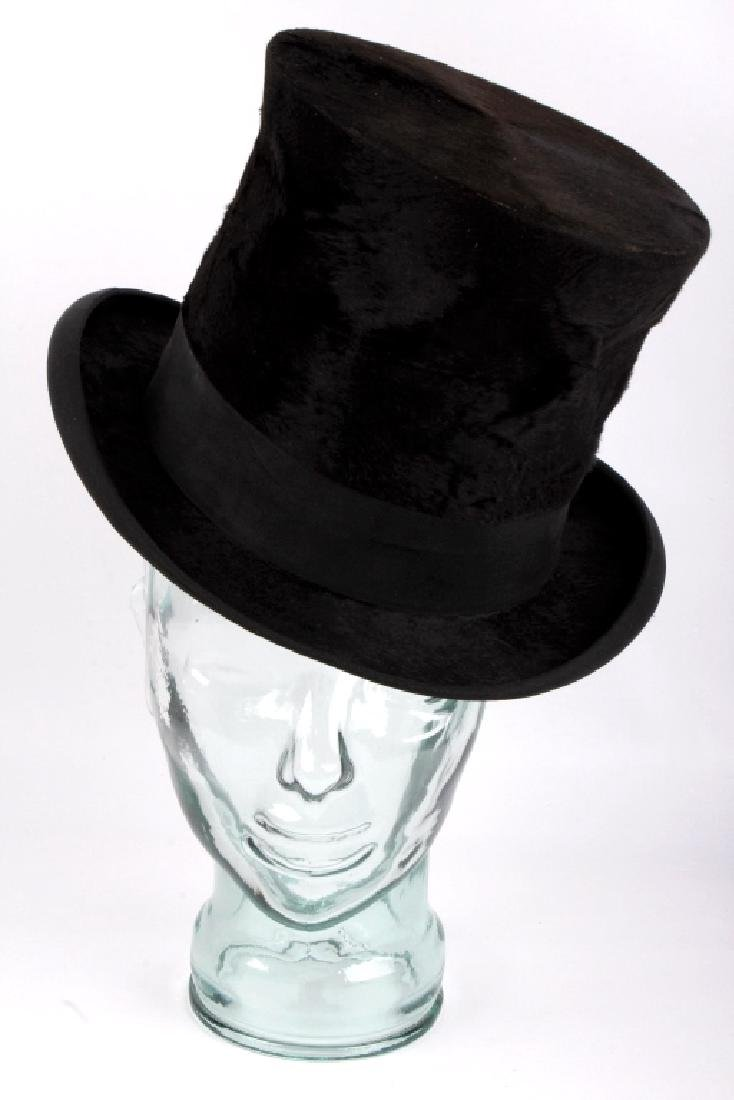 Antique Beaver German Top Hat In Original Box - 4