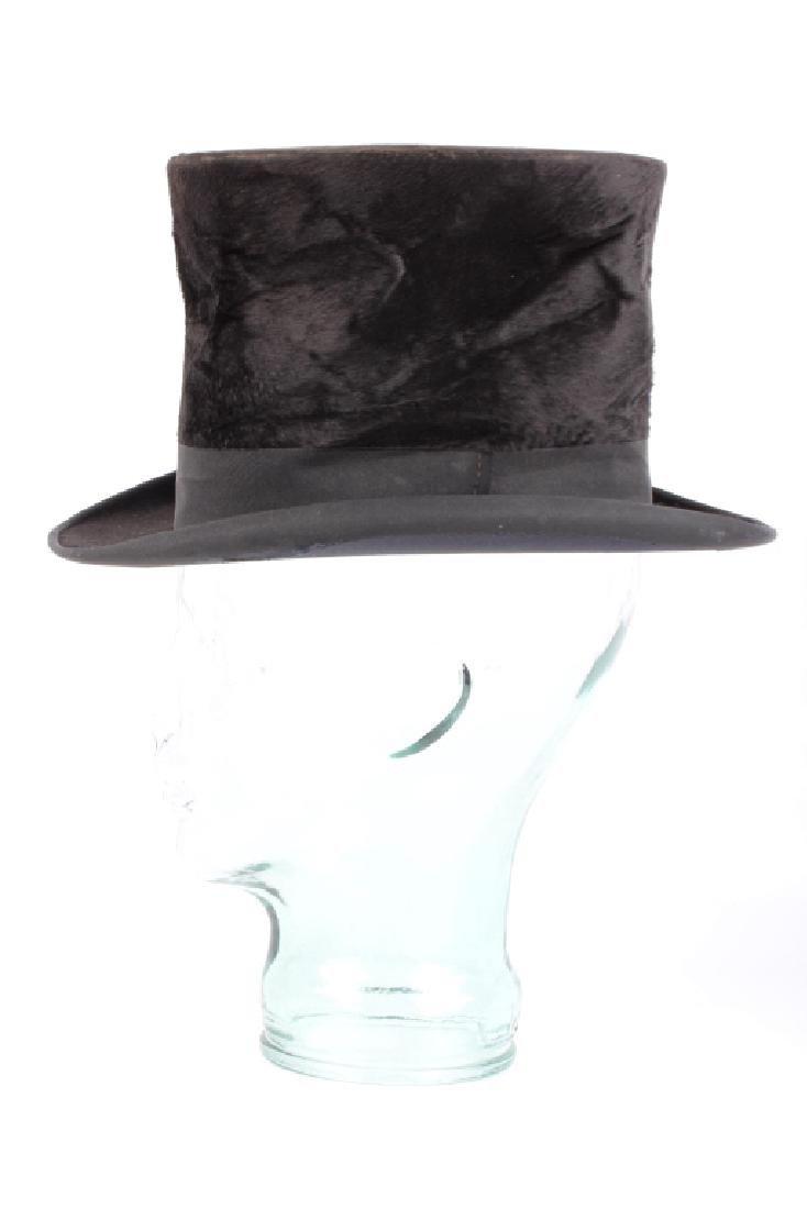 Antique Beaver German Top Hat In Original Box - 5