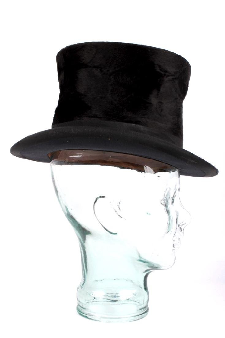 Antique Beaver German Top Hat In Original Box - 6