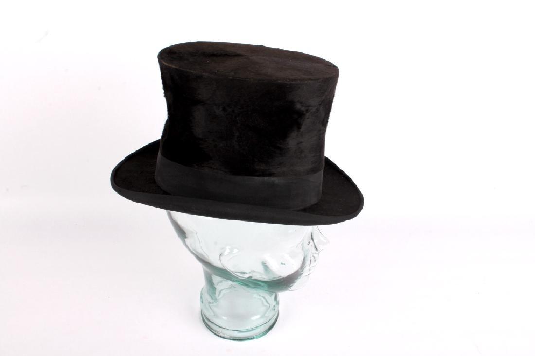 Antique Beaver German Top Hat In Original Box - 7