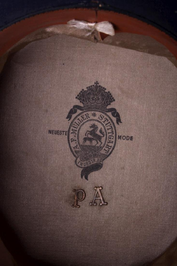 Antique Beaver German Top Hat In Original Box - 8