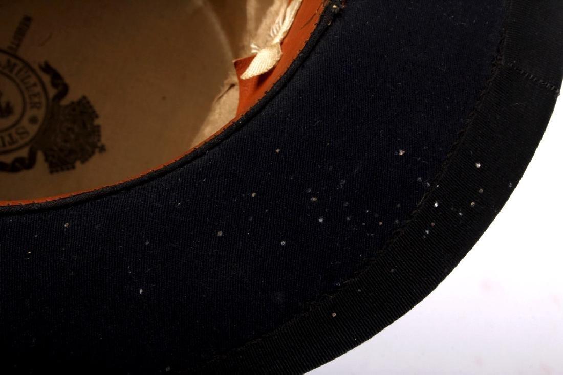 Antique Beaver German Top Hat In Original Box - 9