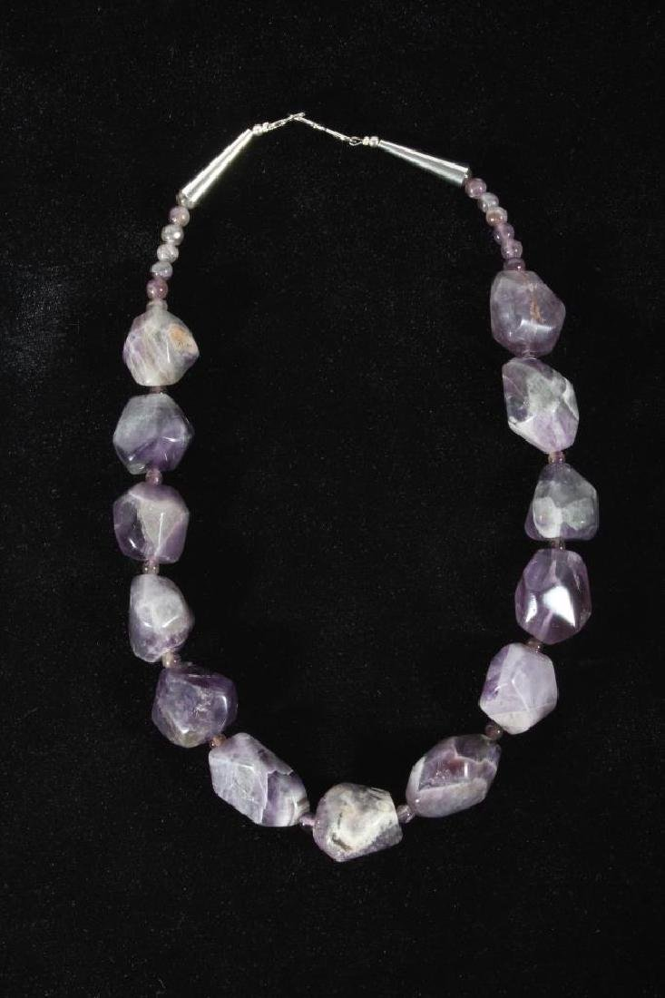 Navajo Polished Natural Amethyst Nugget Necklace