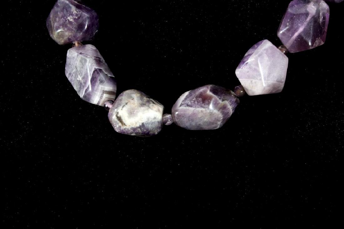 Navajo Polished Natural Amethyst Nugget Necklace - 2