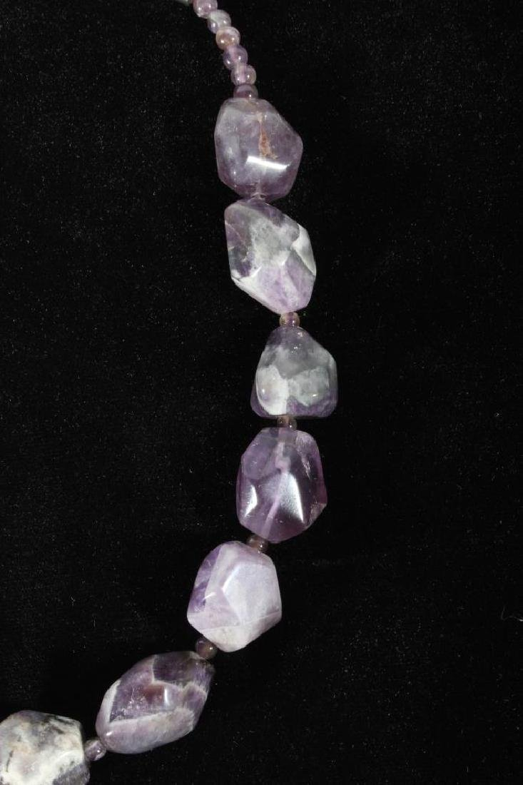Navajo Polished Natural Amethyst Nugget Necklace - 3