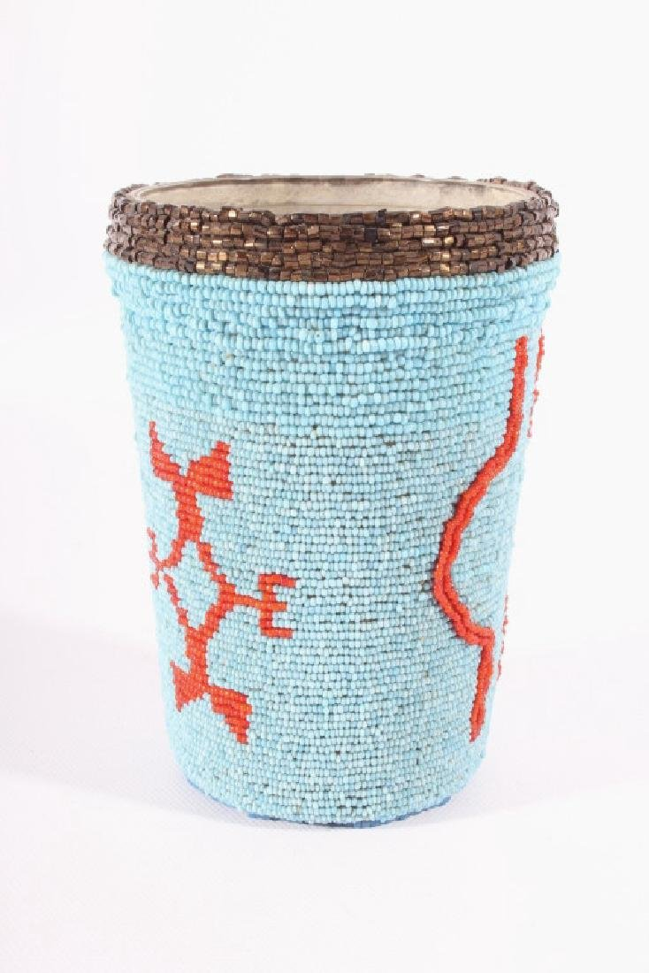 Early Beaded Sioux Trade Bead Cup - 2