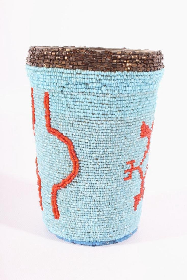 Early Beaded Sioux Trade Bead Cup - 3
