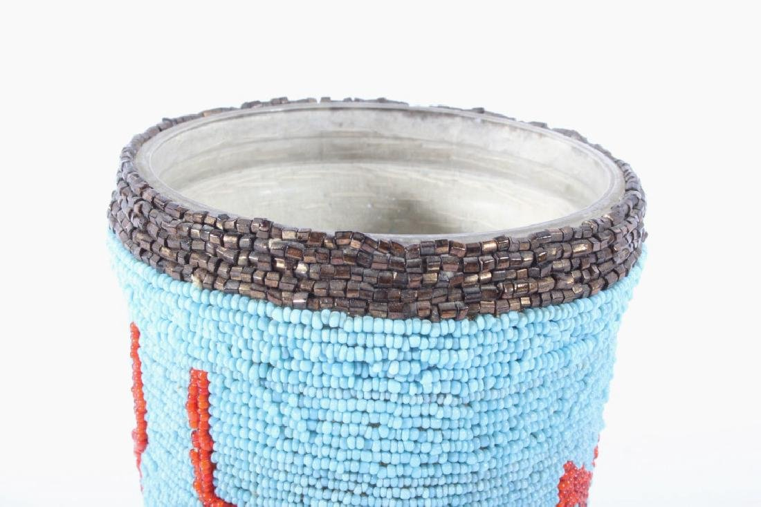 Early Beaded Sioux Trade Bead Cup - 4