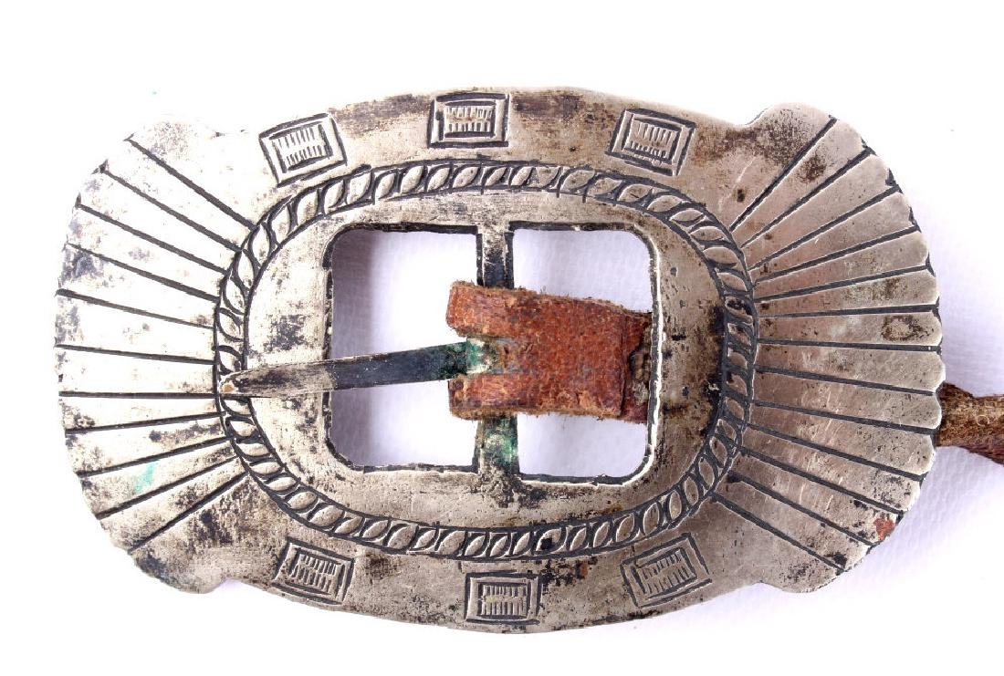 Navajo First Phase Revival Silver Concho Belt - 4