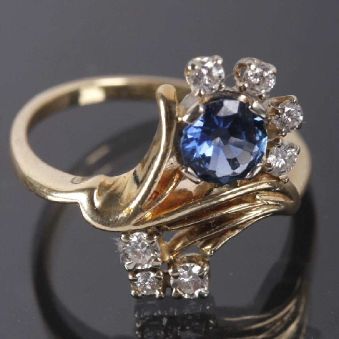14K Gold Montana Yogo Sapphire & Diamond Ring