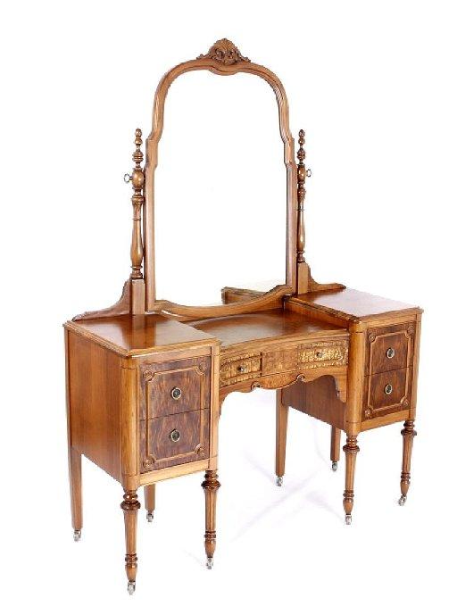 Landstrom Furniture Co Burl Mahogany Vanity