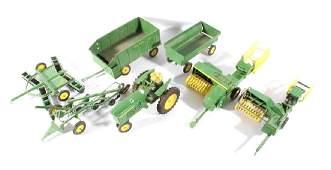 John Deere Ertl Tin & Cast Farm Implement Toys