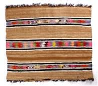 Navajo Mohair Hand Woven Crystal Pattern Rug