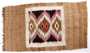 Navajo Mohair Hand Woven Polychrome Rug