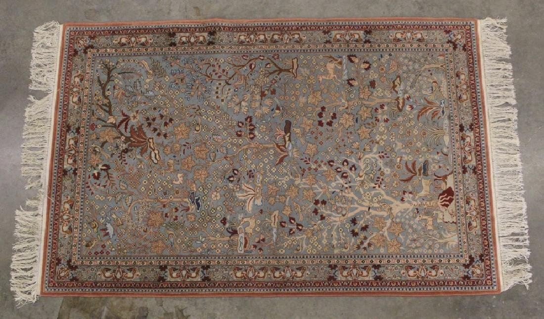 Persian Hand Woven Kerman Tree of Life Style Rug