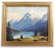 Leonard Lopp Glacier Park Mt. Kintla Oil Painting