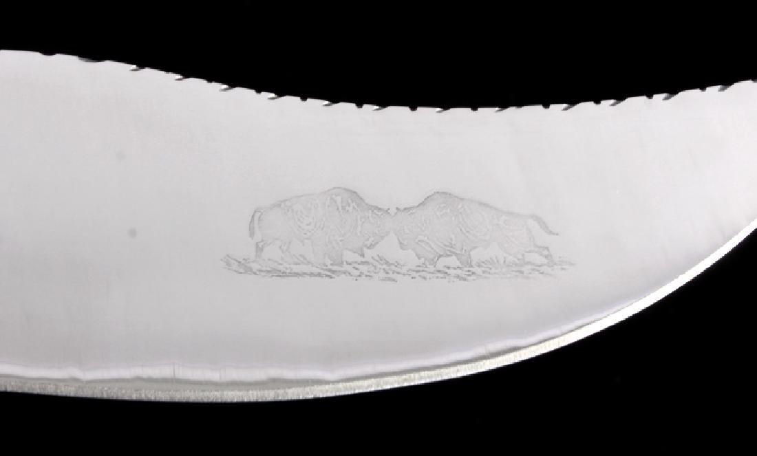 Bob Schopp Custom Bowie Knife w/ Leather Scabbard - 5