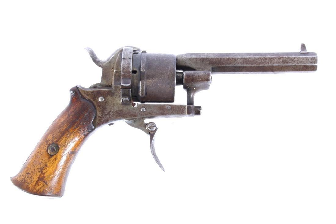 Belgium Proofed DA Pin Fire Revolver Circa 1860
