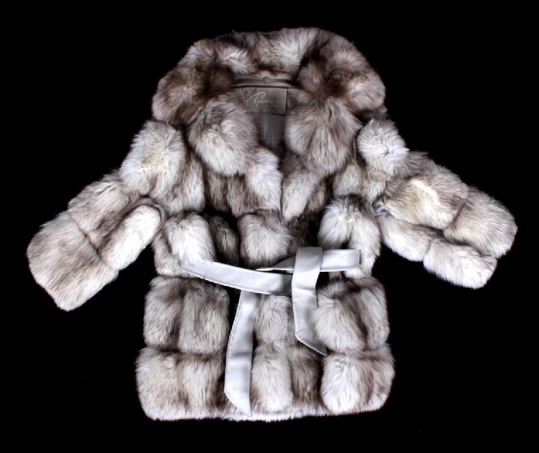 Silver White Fox Fur Coat; Robinson's