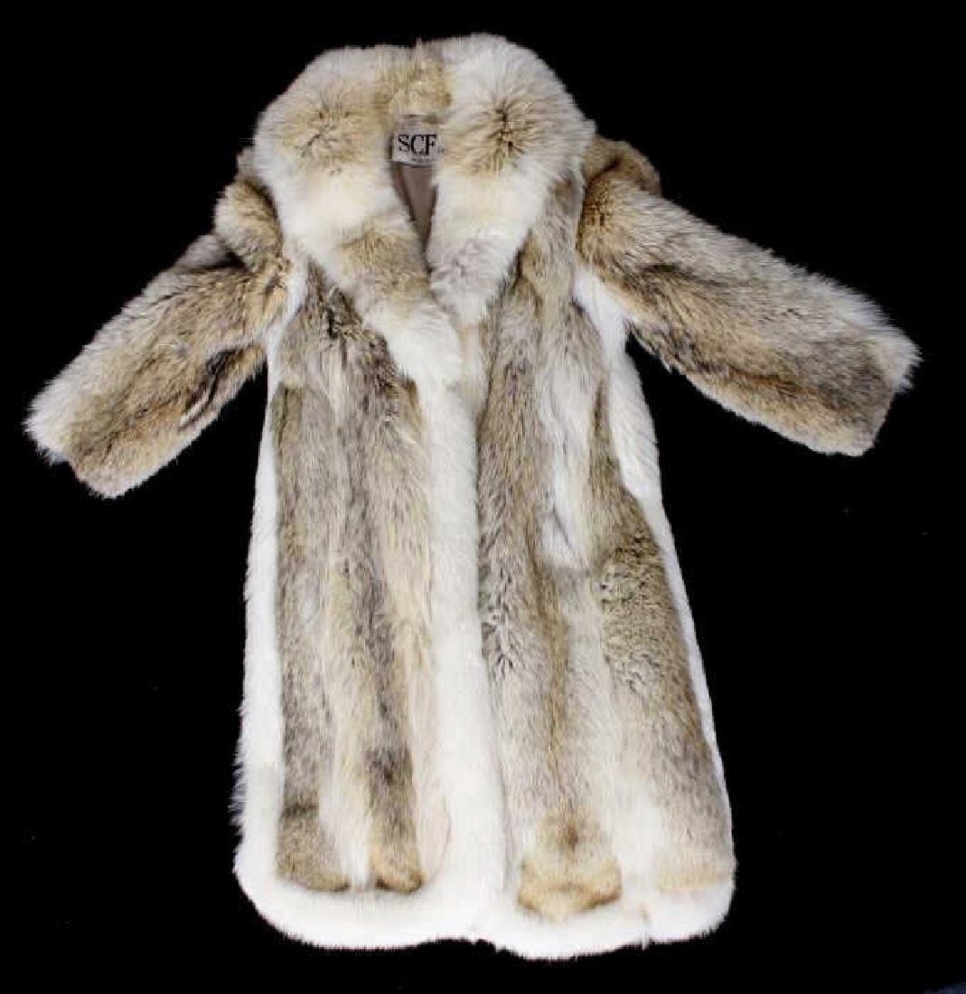 Wolf Fur Coat >> Full Length Grey Wolf Fur Coat With White Fox Trim Mar 03 2018