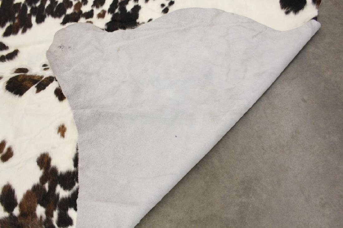 Large Black/White Spotted Cow Hide Area Rug - 10
