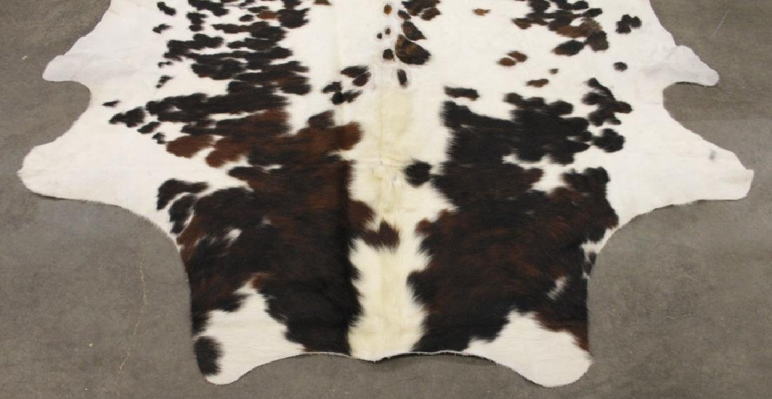 Large Black/White Spotted Cow Hide Area Rug - 2