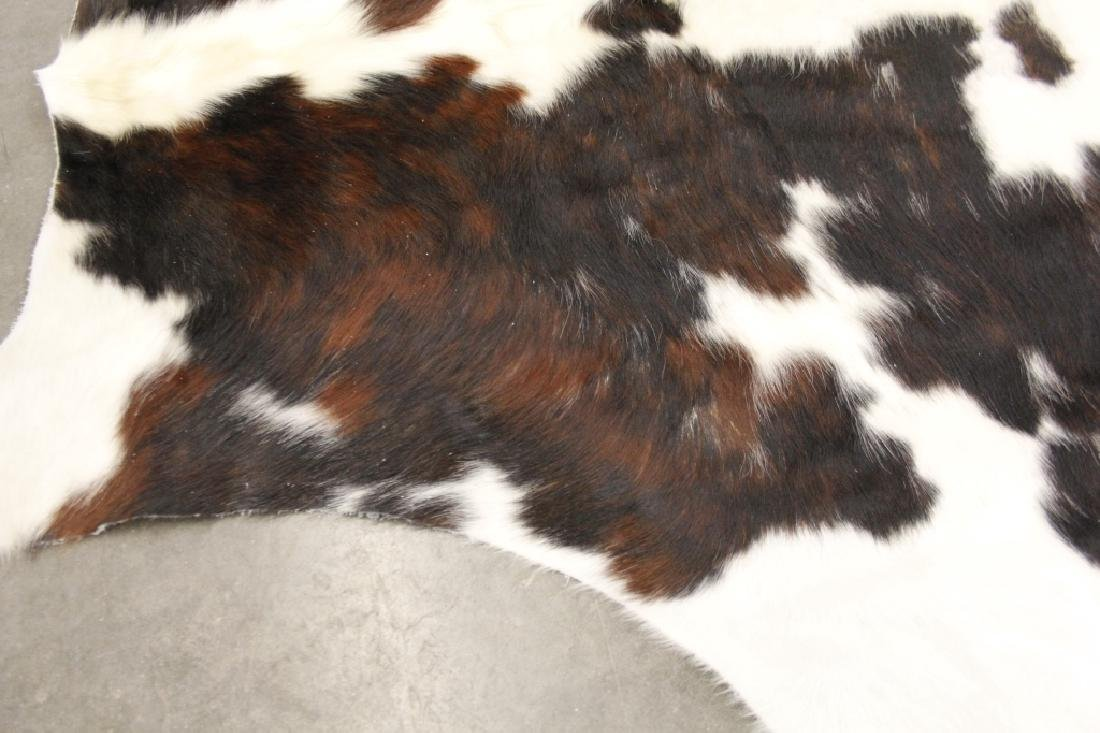 Large Black/White Spotted Cow Hide Area Rug - 7