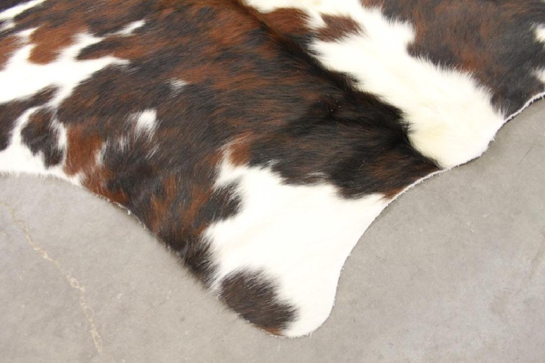 Large Black/White Spotted Cow Hide Area Rug - 8
