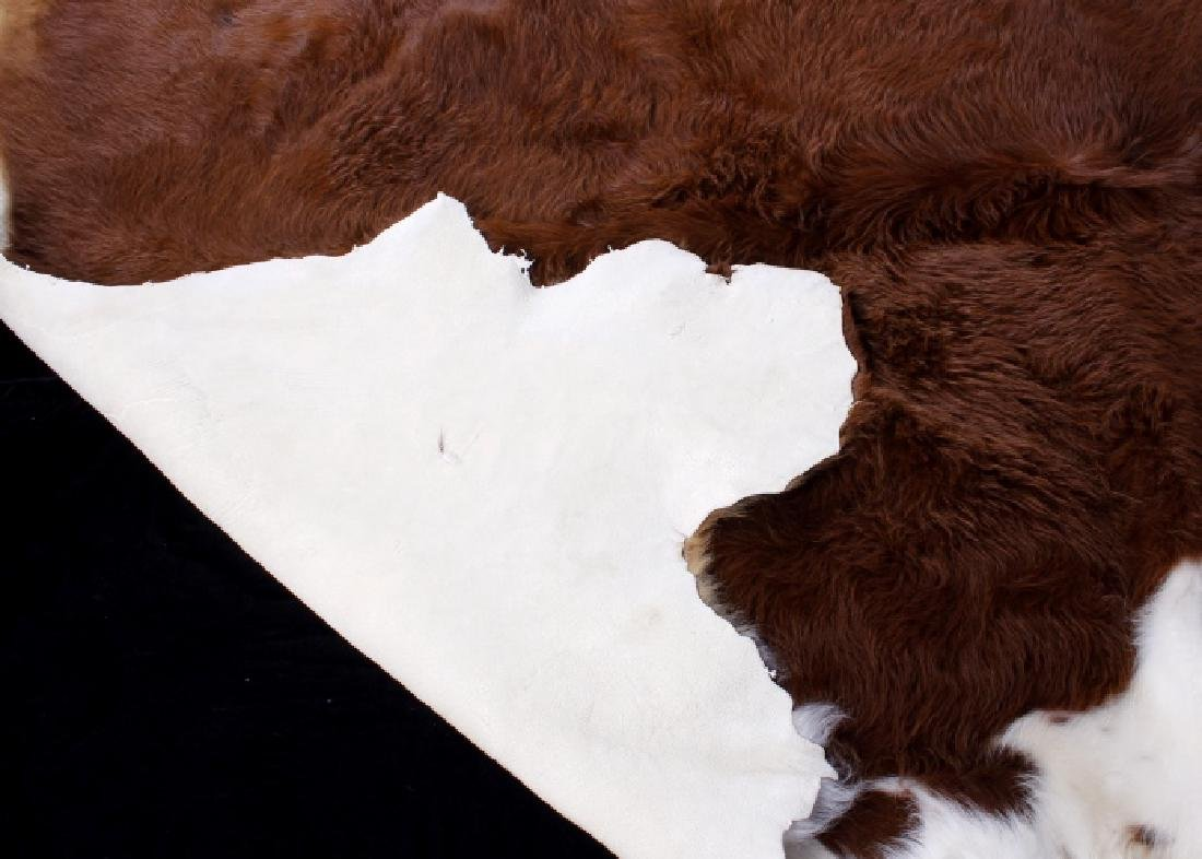 Tanned Hereford Cow Hide Rug - 5