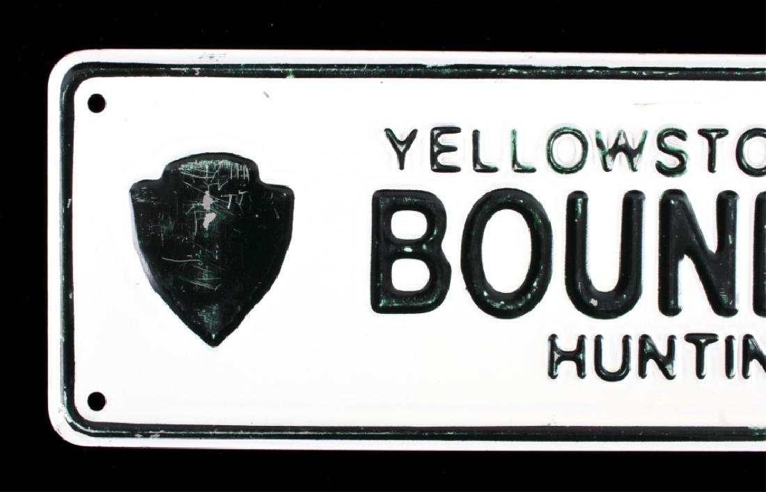 Yellowstone National Park Boundary Line Sign - 2
