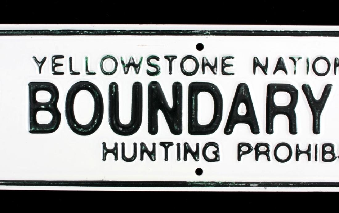 Yellowstone National Park Boundary Line Sign - 3