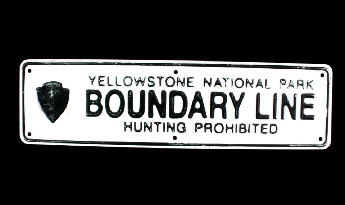 Yellowstone National Park Boundary Line Sign - 8