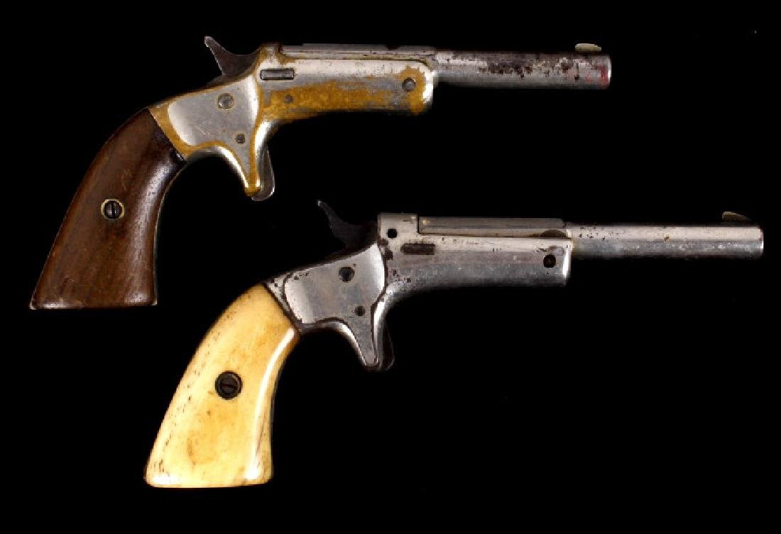 Two J Stevens Break-Action Single Shot .22 Pistols