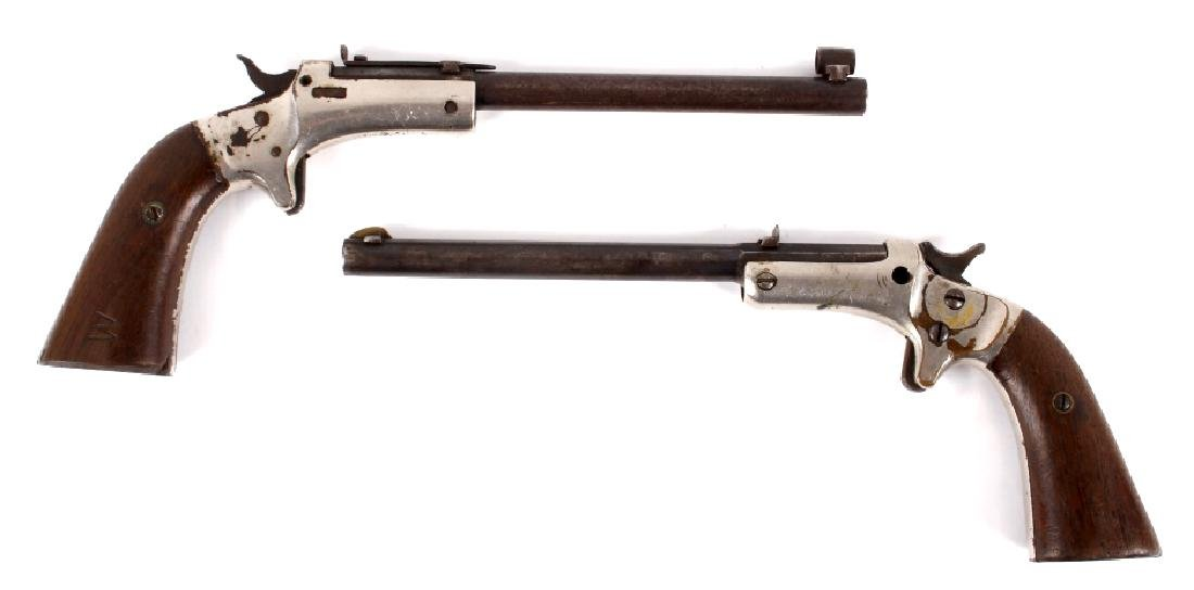 Two J Stevens Single Shot 22 Caliber Pocket Rifles