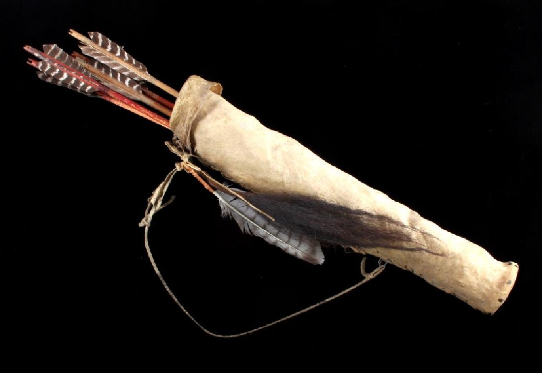 Plains Native American Indian Rawhide Arrow Quiver